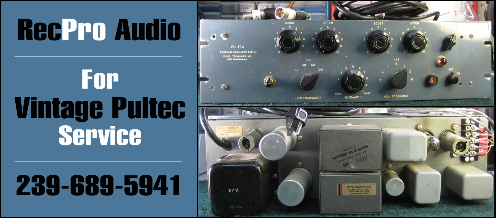 Vintage Pultec Repair and Service